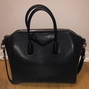 Givenchy black nappa 'antigonia' medium